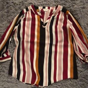 Van Heusen striped semi-fancy long sleeved top